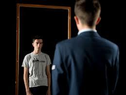 man boy mirror